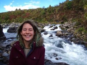 Gushing waterfall